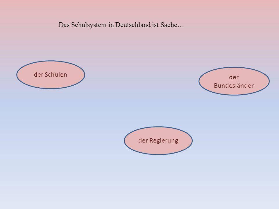 Das Schulsystem in Deutschland ist Sache…