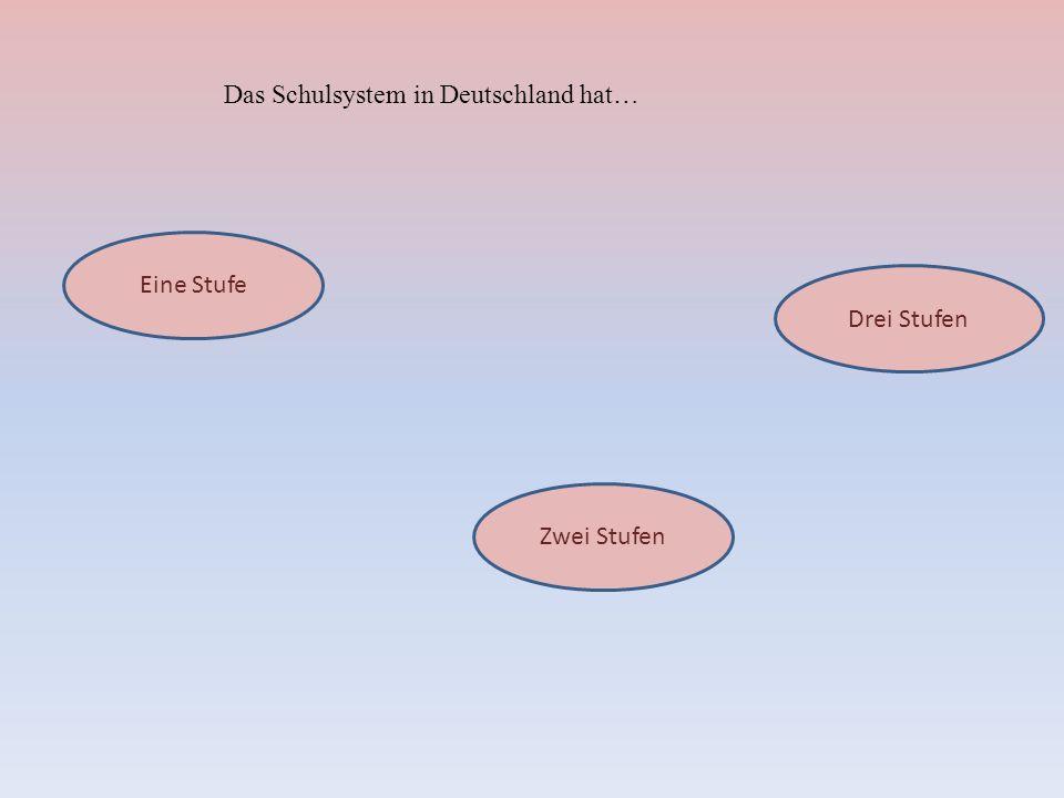 Das Schulsystem in Deutschland hat…