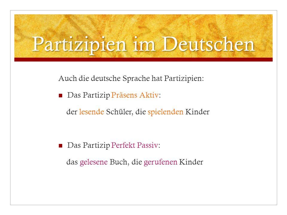 Partizipien im Deutschen