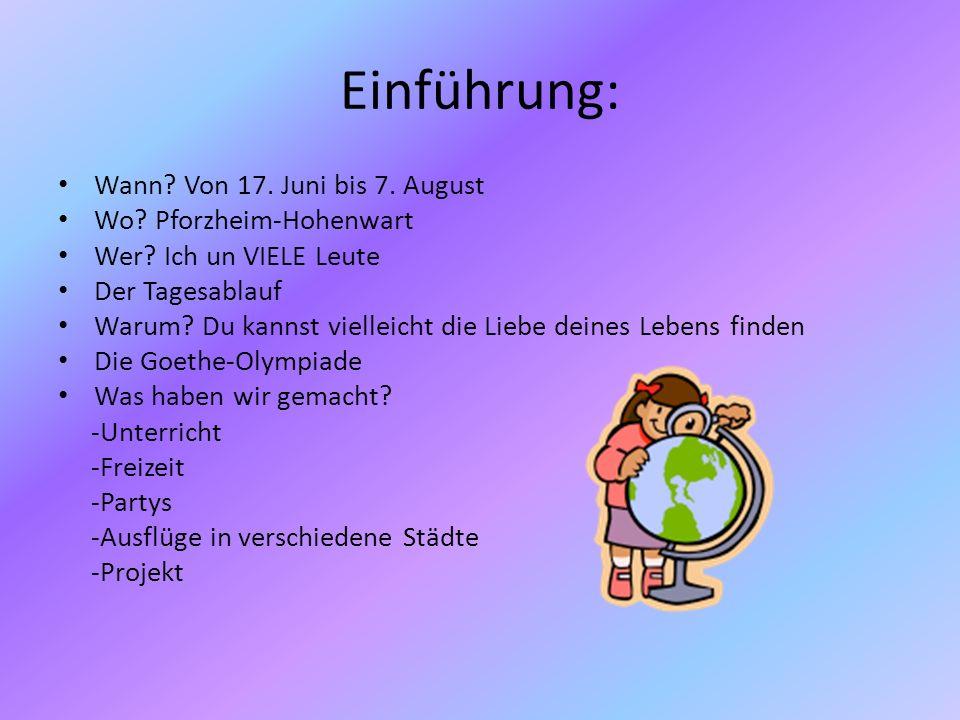 Einführung: Wann Von 17. Juni bis 7. August Wo Pforzheim-Hohenwart