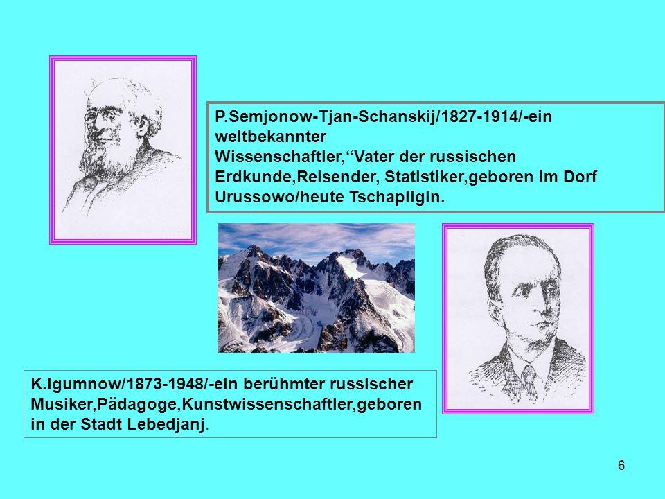 P.Semjonow-Tjan-Schanskij/1827-1914/-ein weltbekannter