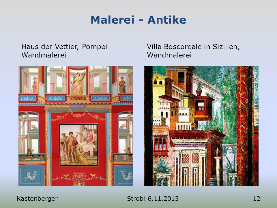 Malerei - Antike Haus der Vettier, Pompei Wandmalerei