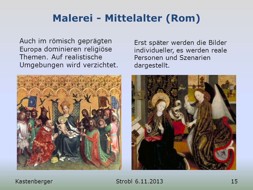 Malerei - Mittelalter (Rom)
