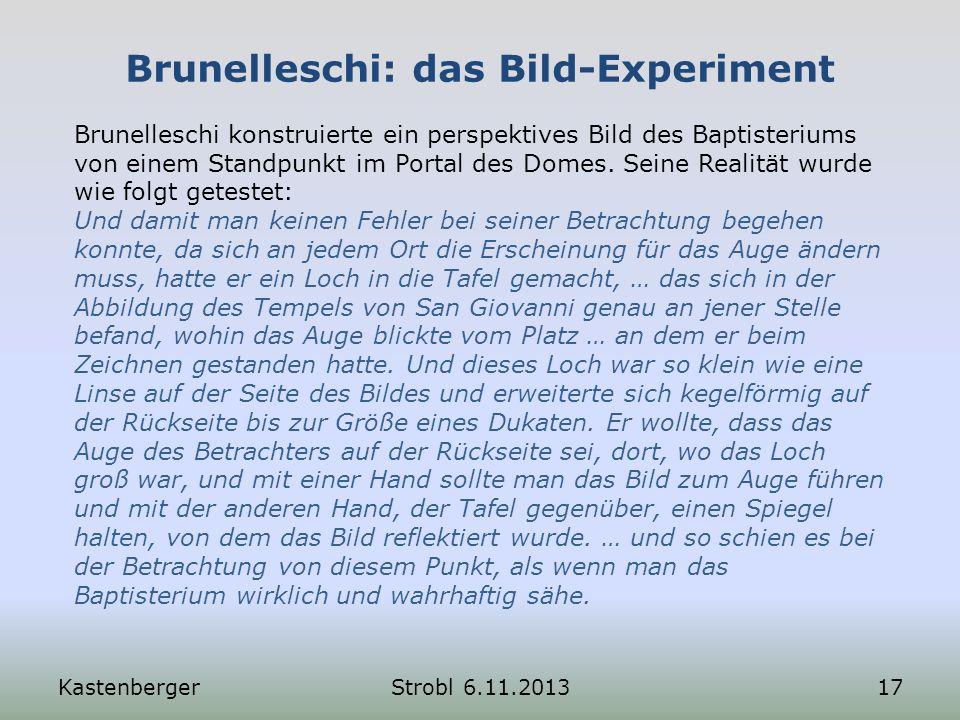 Brunelleschi: das Bild-Experiment