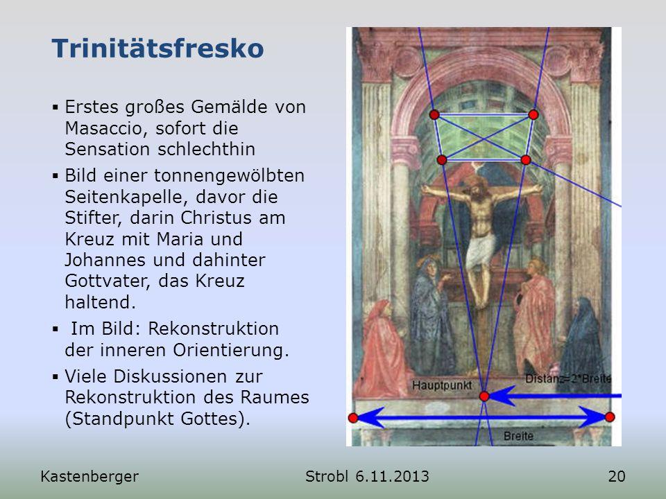 Trinitätsfresko Erstes großes Gemälde von Masaccio, sofort die Sensation schlechthin.