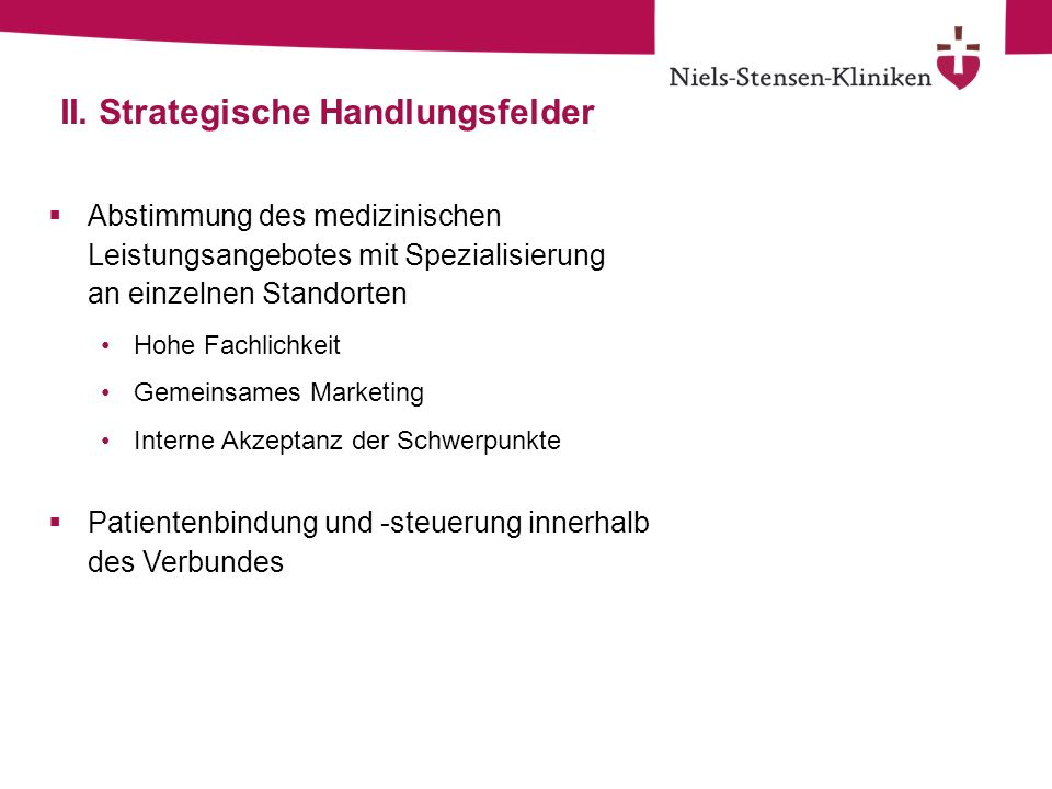II. Strategische Handlungsfelder