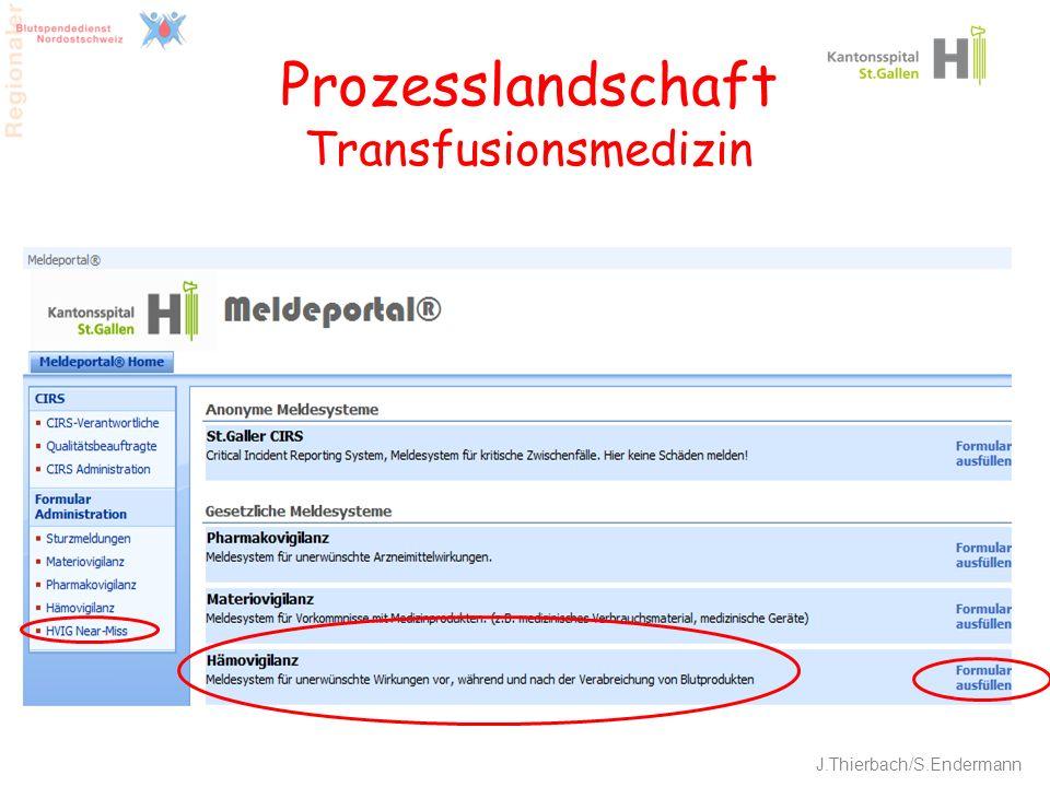 Prozesslandschaft Transfusionsmedizin
