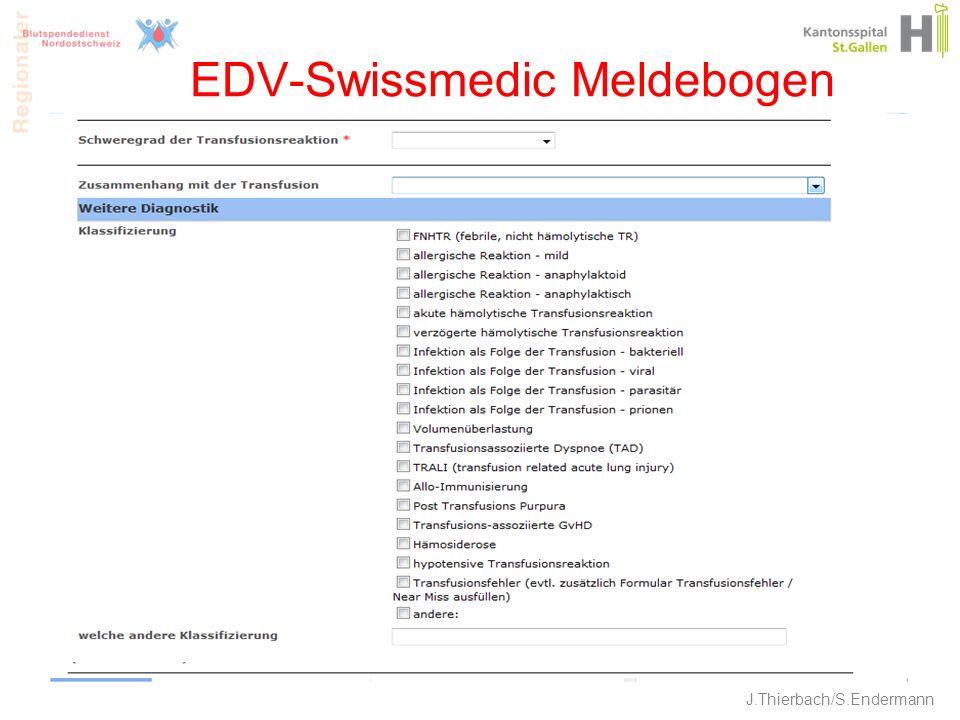 EDV-Swissmedic Meldebogen