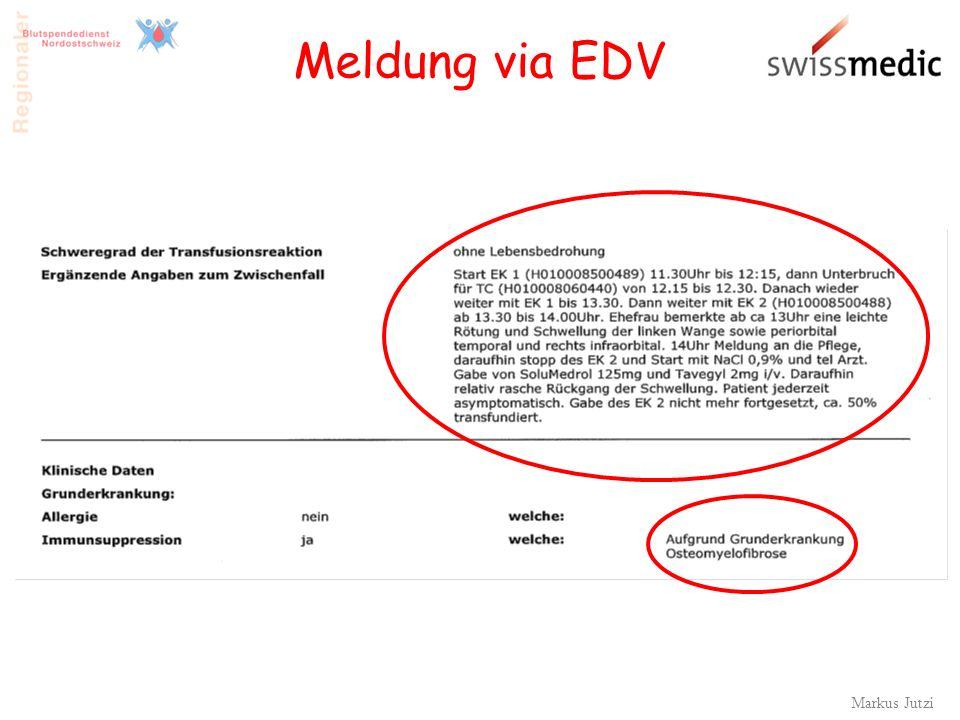 Meldung via EDV Markus Jutzi