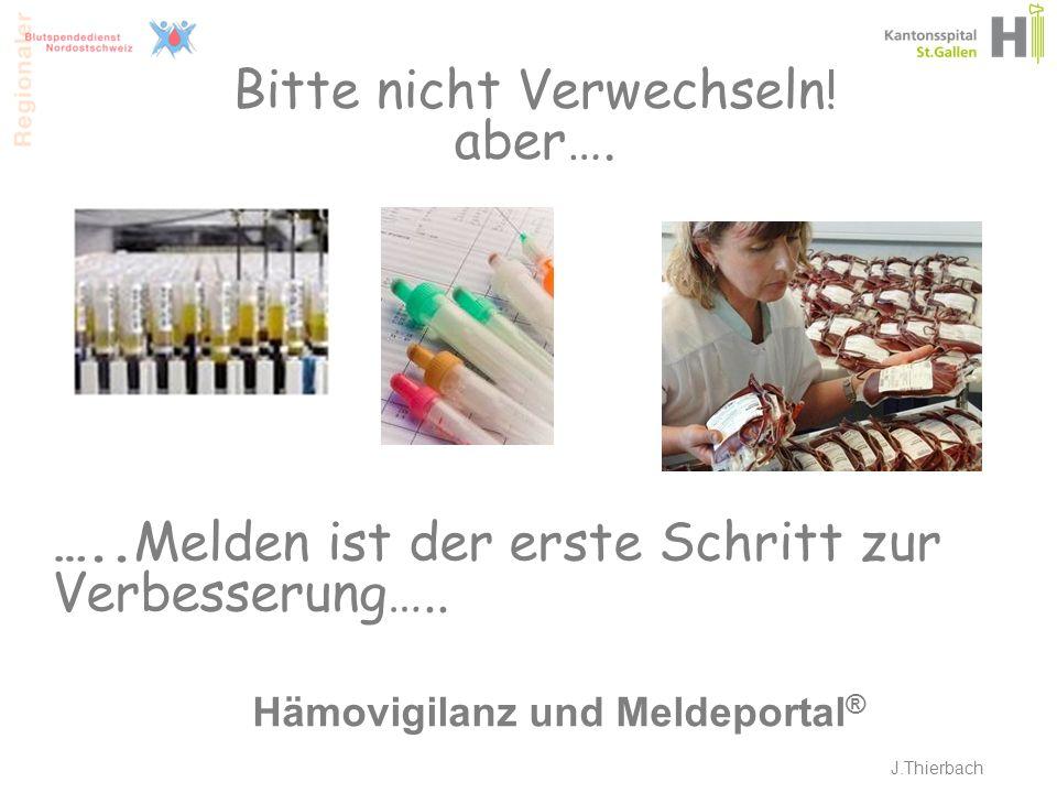 Hämovigilanz und Meldeportal®