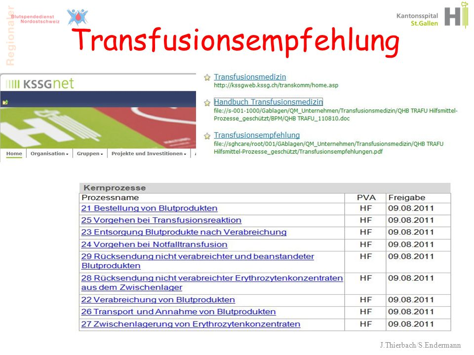 Transfusionsempfehlung