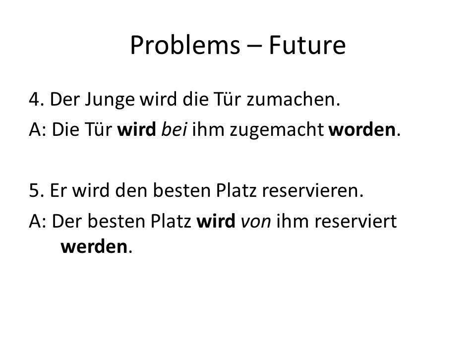 Problems – Future