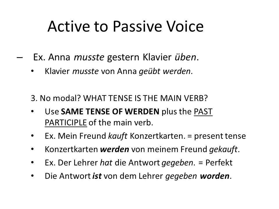 Active to Passive Voice