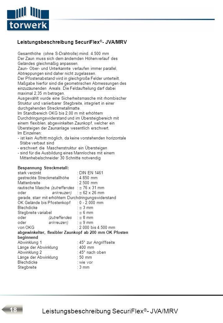 Leistungsbeschreibung SecuriFlex®- JVA/MRV