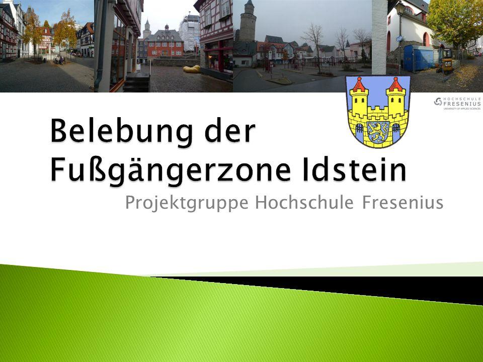 Belebung der Fußgängerzone Idstein