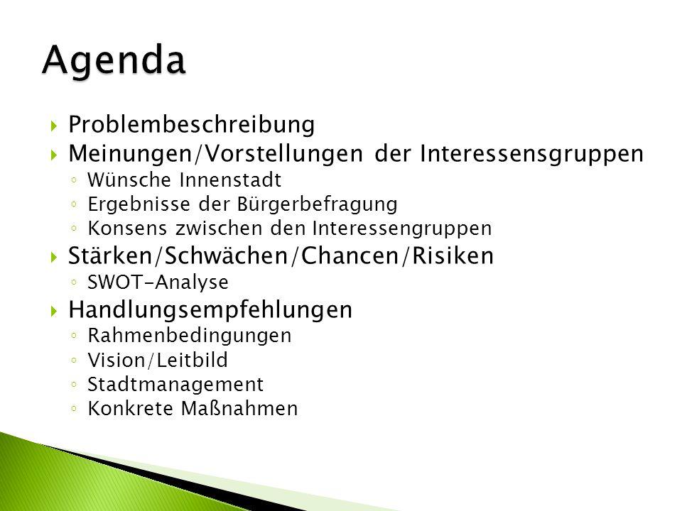 Agenda Problembeschreibung