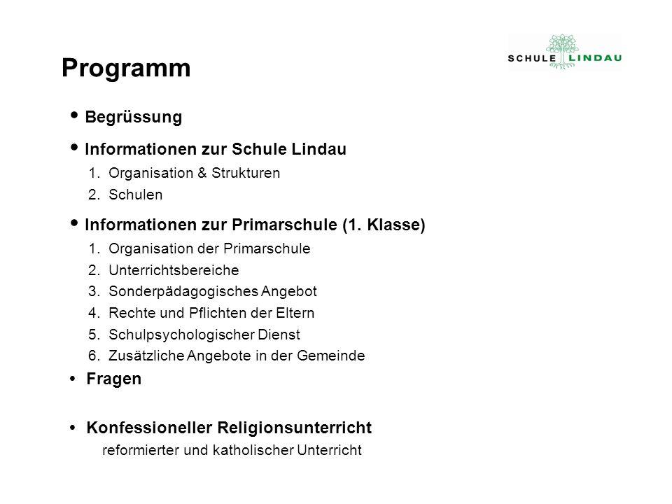 Programm  Begrüssung  Informationen zur Schule Lindau