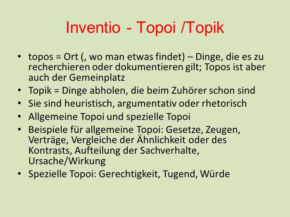 Inventio - Topoi /Topik