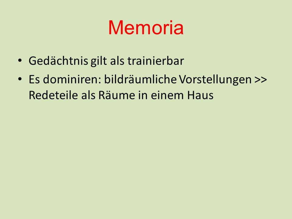 Memoria Gedächtnis gilt als trainierbar