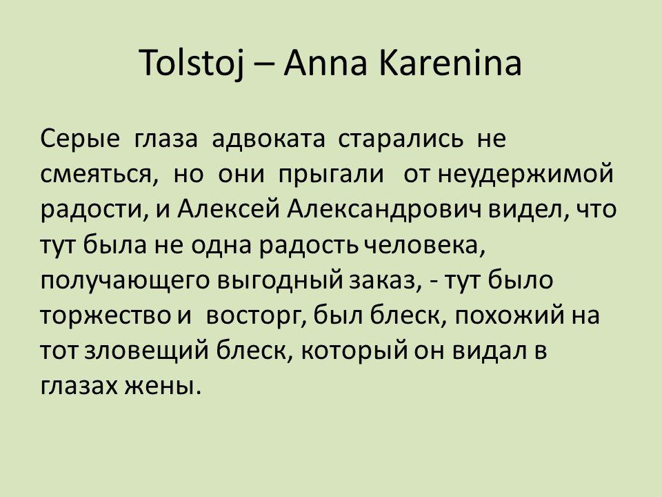 Tolstoj – Anna Karenina