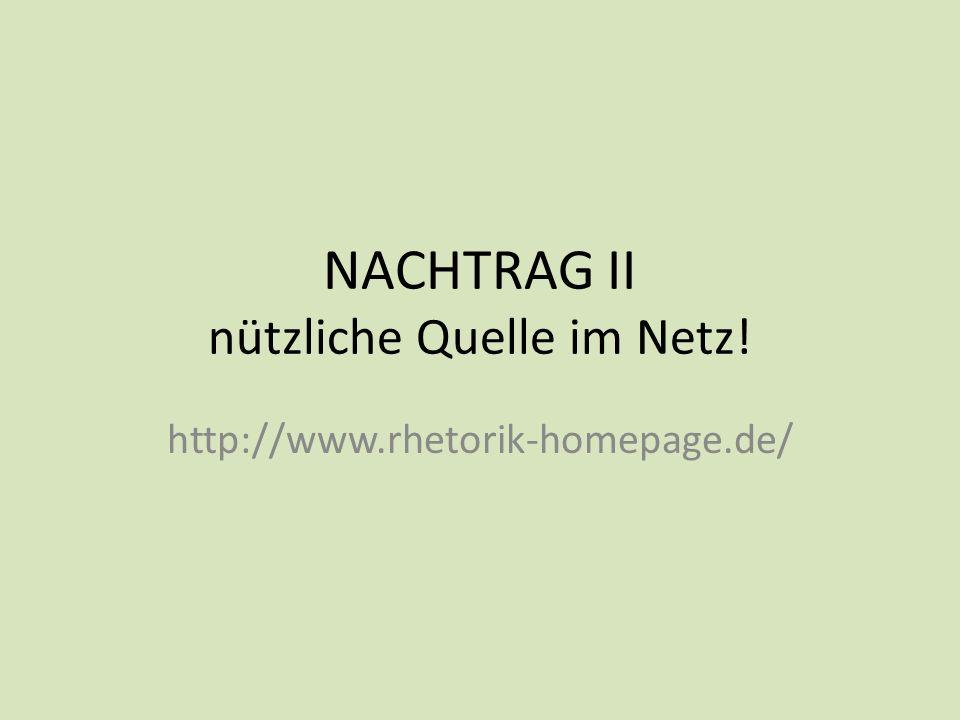 NACHTRAG II nützliche Quelle im Netz!
