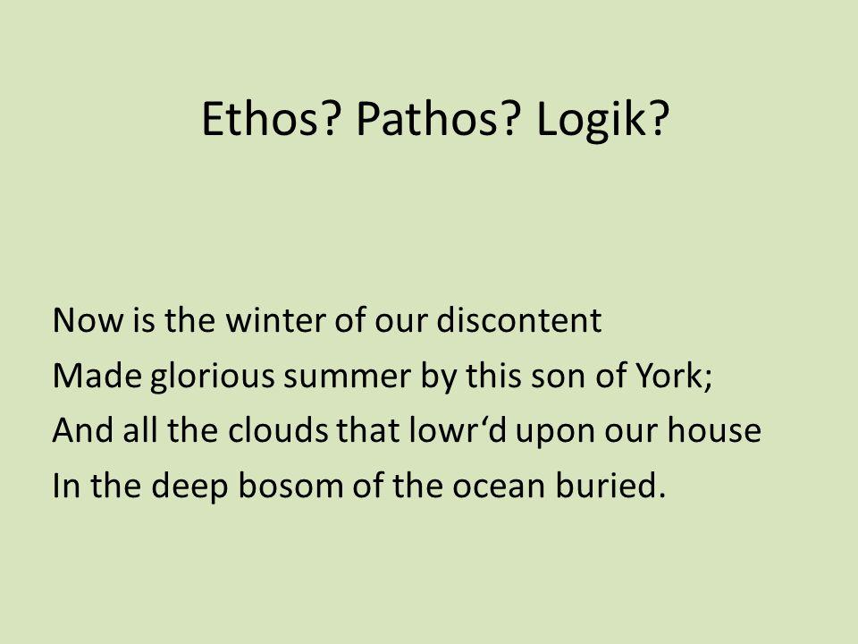 Ethos Pathos Logik