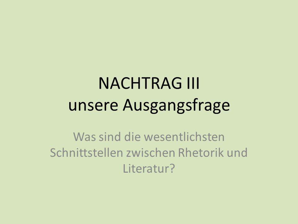 NACHTRAG III unsere Ausgangsfrage