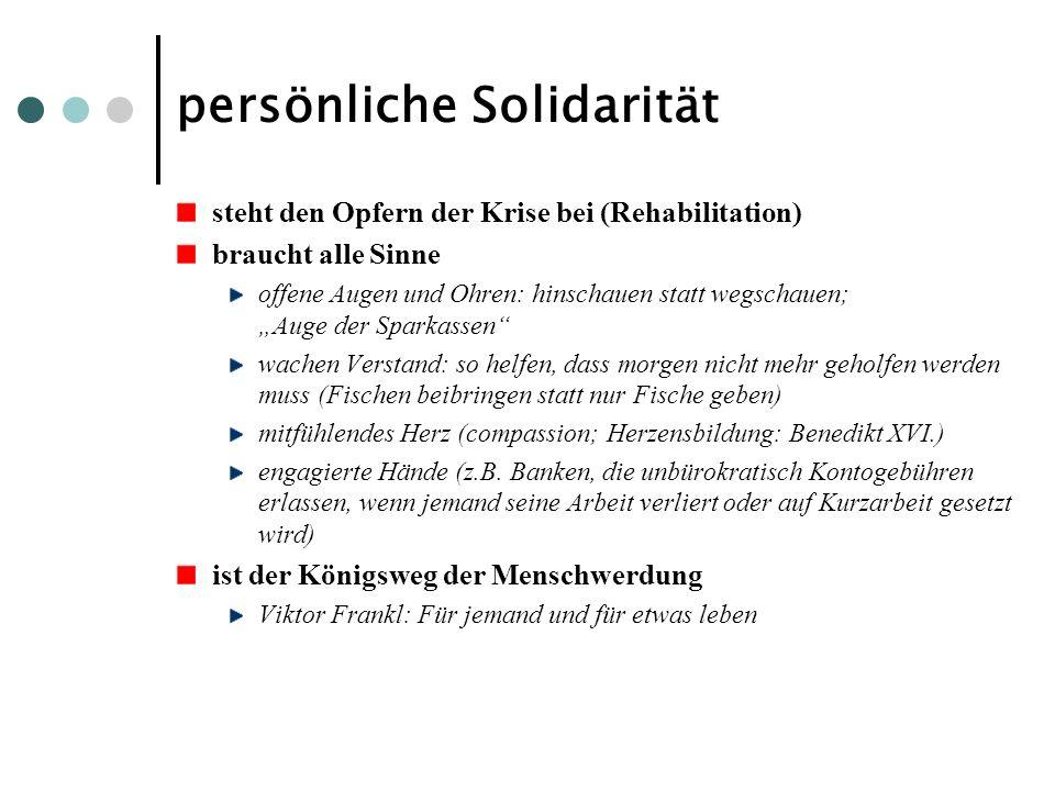 persönliche Solidarität
