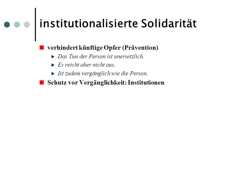 institutionalisierte Solidarität