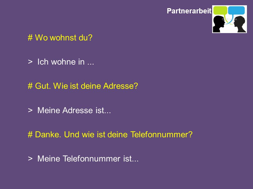 Partnerarbeit