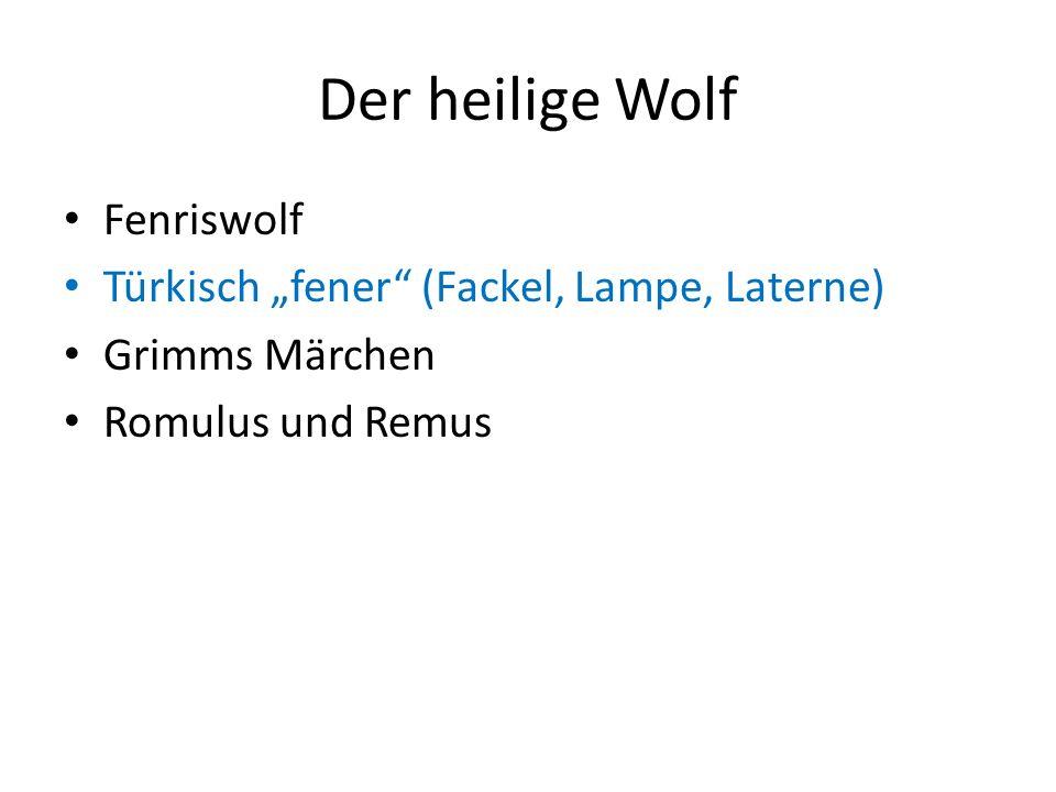 """Der heilige Wolf Fenriswolf Türkisch """"fener (Fackel, Lampe, Laterne)"""