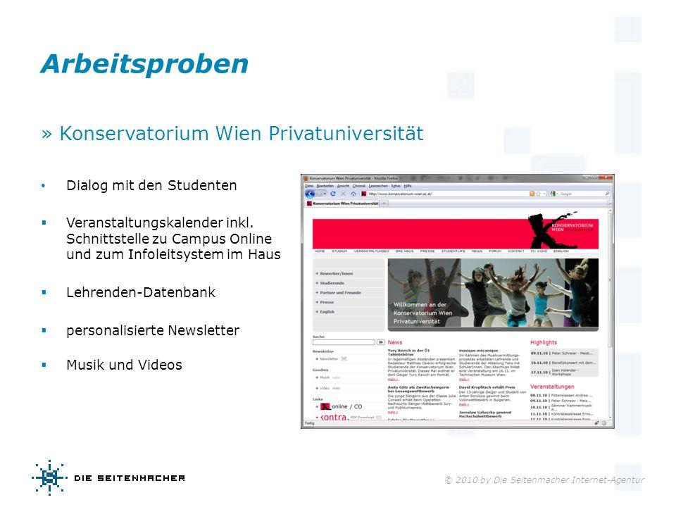 Arbeitsproben » Konservatorium Wien Privatuniversität