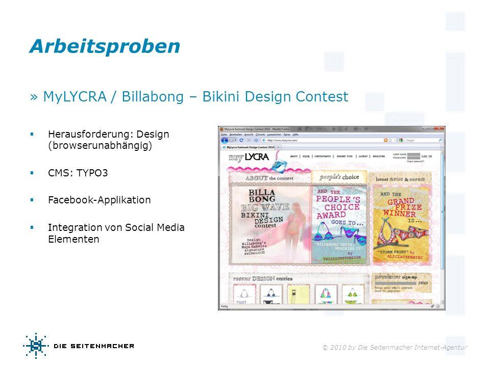 Arbeitsproben » MyLYCRA / Billabong – Bikini Design Contest