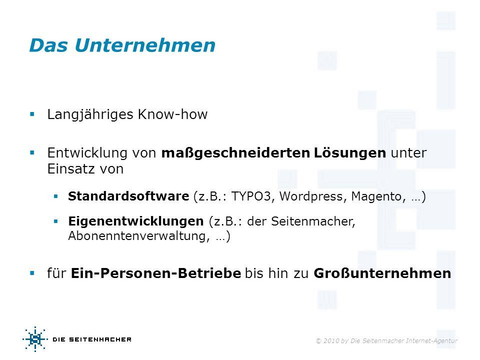 Das Unternehmen Langjähriges Know-how