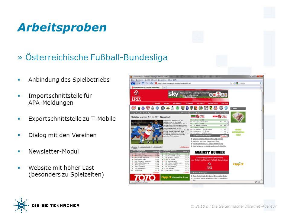 Arbeitsproben » Österreichische Fußball-Bundesliga
