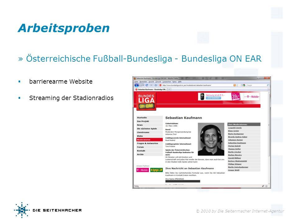 Arbeitsproben » Österreichische Fußball-Bundesliga - Bundesliga ON EAR