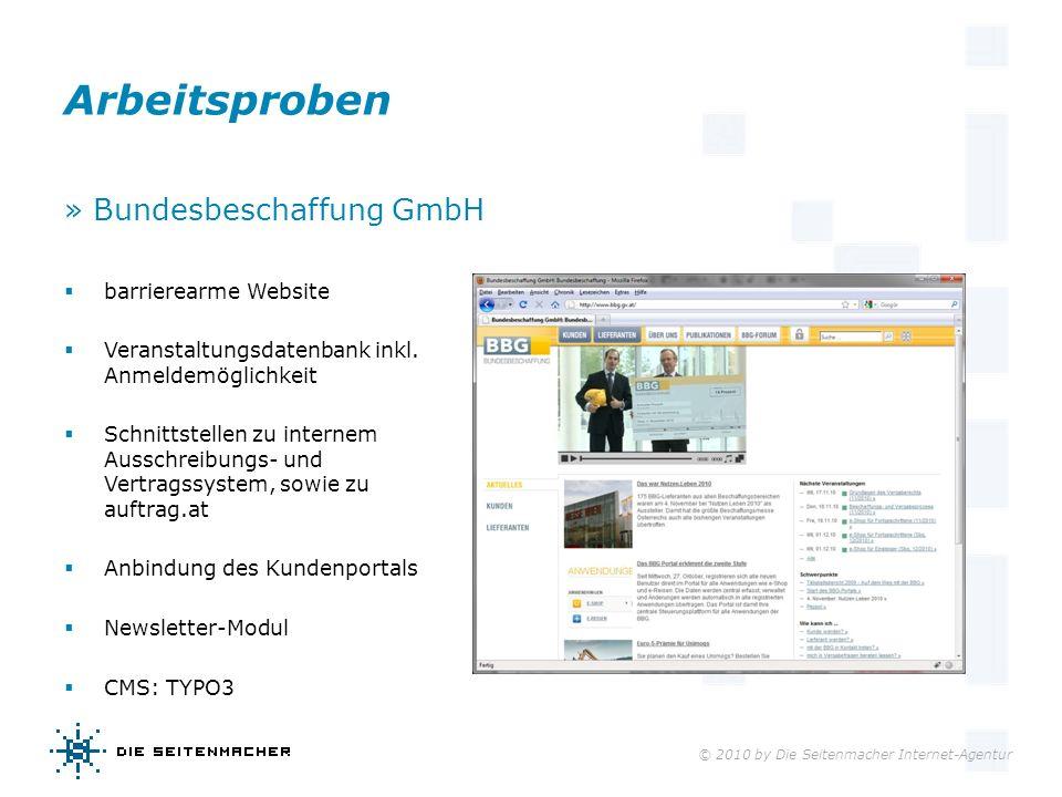 Arbeitsproben » Bundesbeschaffung GmbH barrierearme Website