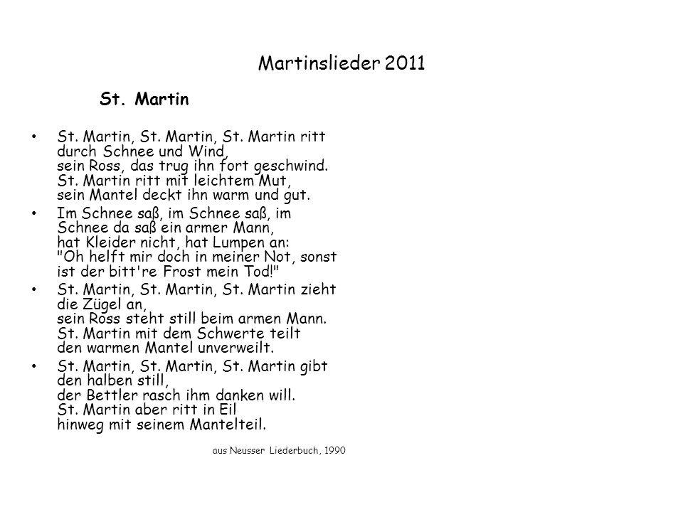 Martinslieder 2011 St. Martin.