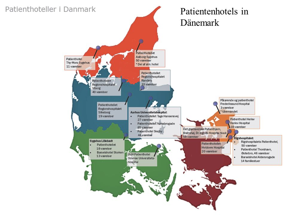 Patientenhotels in Dänemark