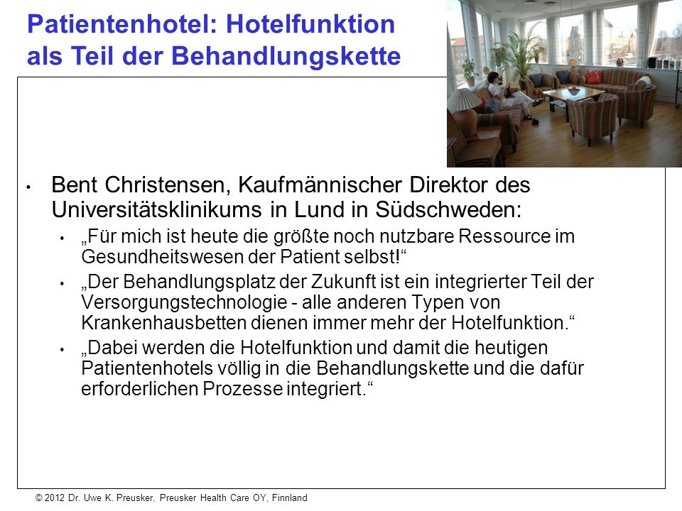 Patientenhotel: Hotelfunktion als Teil der Behandlungskette