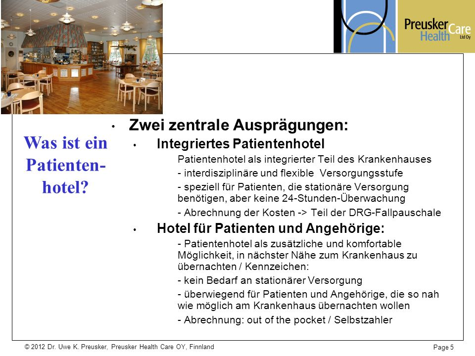 Was ist ein Patienten- hotel