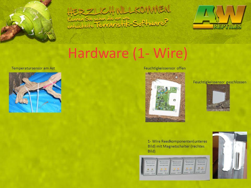 Hardware (1- Wire) Temperatursensor am Ast Feuchtigkeissensor offen