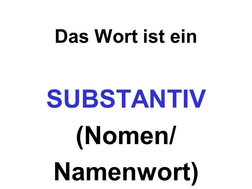 SUBSTANTIV (Nomen/ Namenwort)