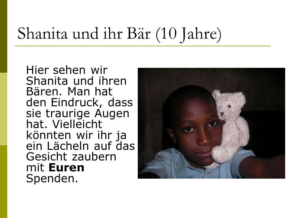 Shanita und ihr Bär (10 Jahre)