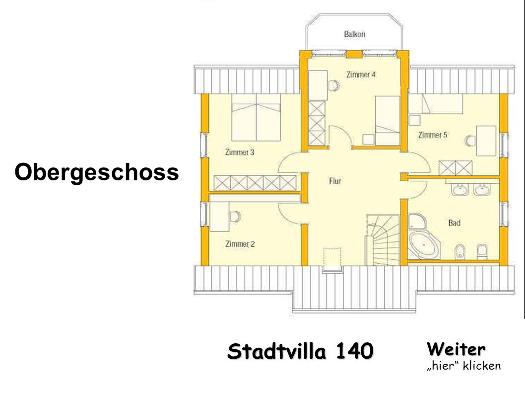 "Obergeschoss Stadtvilla 140 Weiter ""hier klicken"