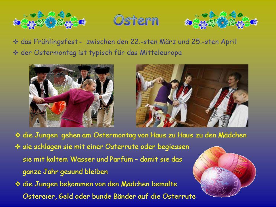 Osterndas Frühlingsfest - zwischen den 22.-sten März und 25.-sten April. der Ostermontag ist typisch für das Mitteleuropa.