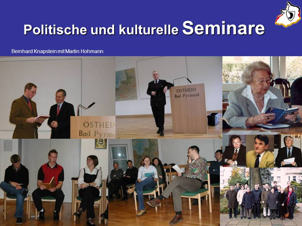 Politische und kulturelle Seminare