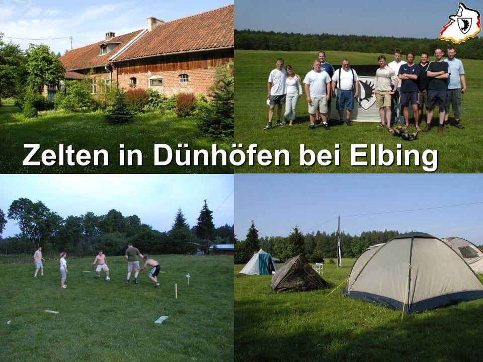 Zelten in Dünhöfen bei Elbing