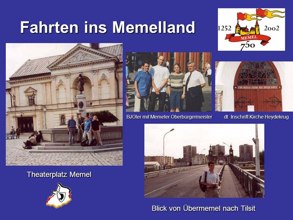 Fahrten ins Memelland Theaterplatz Memel