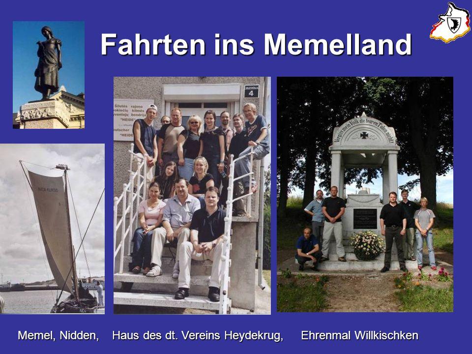 Fahrten ins Memelland Memel, Nidden, Haus des dt. Vereins Heydekrug, Ehrenmal Willkischken